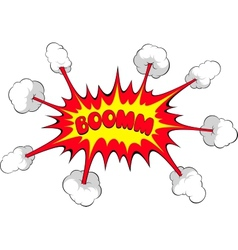Comic explosion boom vector