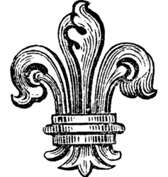 distressed Fleur-de-lis vector image vector image