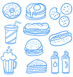 Doodle of food element art vector