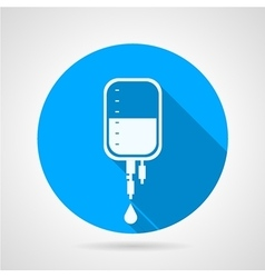 Dropper flat round icon vector image