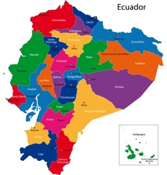 Ecuador map vector