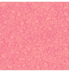 Fancy hearts seamless pattern vector image