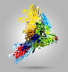 Flying macaw vector