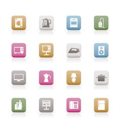 home equipment icons vector image vector image