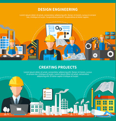 Industrial design banners collection vector