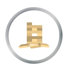 Jenga icon in pattern vector