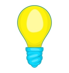 Lamp bulb icon cartoon style vector