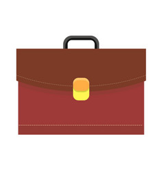Leather briefcase logo icon vector