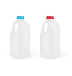 Milk Bottles vector image