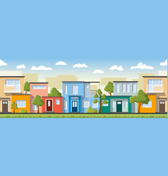 modern colorful houses also usable as a vector image vector image