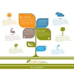 Modern ecology infographics vector