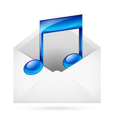 music mail vector image vector image