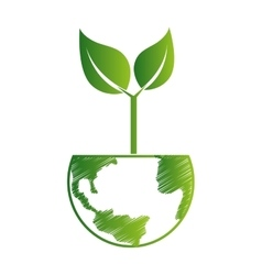 Nature plant world earth icon vector