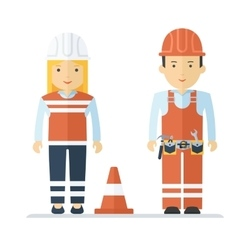 Profession worker man and woman vector