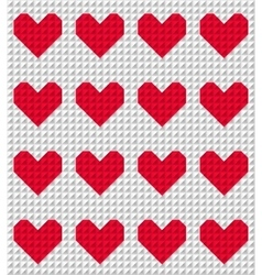 red polygonal heart pattern vector image