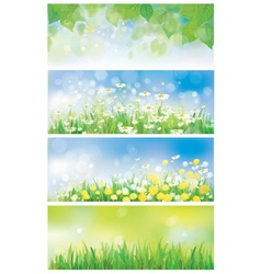 Spring banners vector