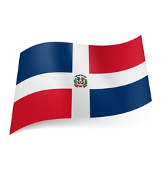 State flag of Dominican Republic vector image