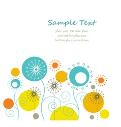 Summer floral background vector