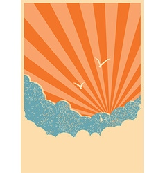 Sun and sky background vector