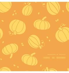 Thanksgiving golden pumpkins frame corner pattern vector image