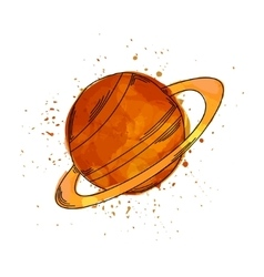 the red planet It can be vector image