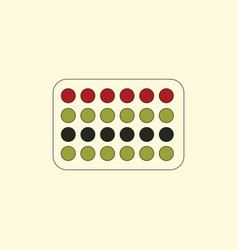 Twister game mat vector