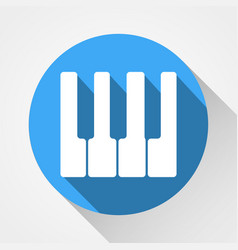white piano keys icon white piano keys icon vector image