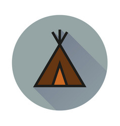 Wigwam icon on white background vector
