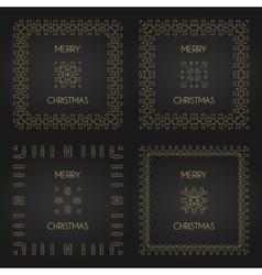 Golden decorative frames set design vector