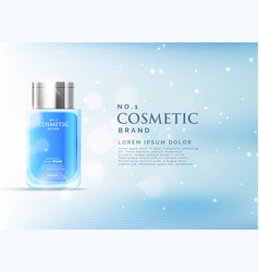 Cosmetic product ads display concept template vector