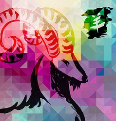 2015 new year of the goat colorful background vector