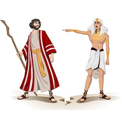Pharaoh Sends Moses Away For Passover vector image