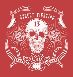 Street fighting club emblem vector
