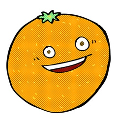 Happy comic cartoon orange vector