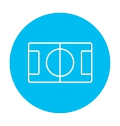 Stadium layout line icon vector