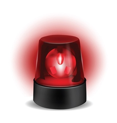 red flashlight vector image