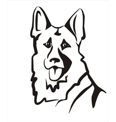 German shepard vector