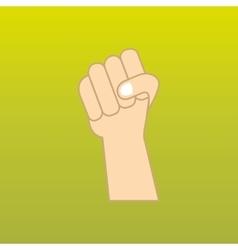 hand power design vector image