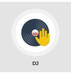 Vinyl disc flat icon vector