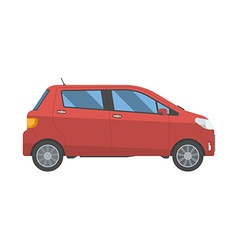Hatchback new red family car isolated on white vector