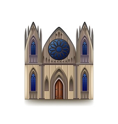Gothic cathedral isolated on white vector