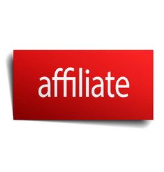 Affiliate red paper sign isolated on white vector