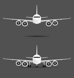airplane with four motors set vector image vector image