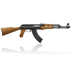 automatic machine AK 47 01 vector image