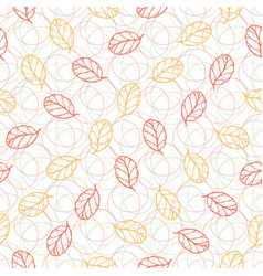 Autumn seamless pattern with leaves fashion vector