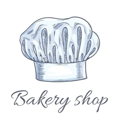 Bakery shop emblem of baker chef toque hat vector image vector image