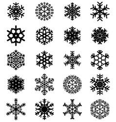 black snowflakes vector image