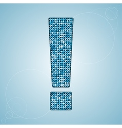 Blue sequins sings sequins alphabet eps 10 vector