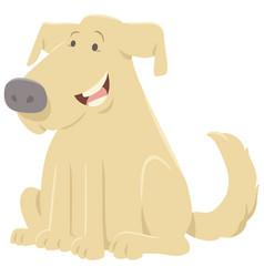 Comics dog cartoon character vector