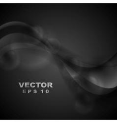 Dark abstract shiny waves vector image
